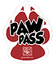 Image of the Paw Pass attraction lanyard exclusively available from Great Wolf Lodge.